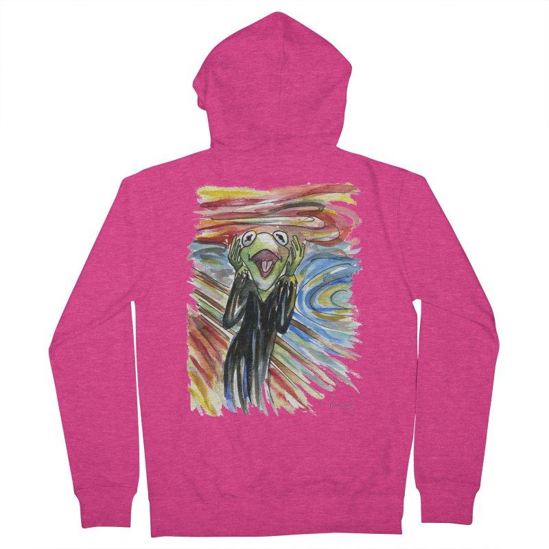 """""""The shout"""" Women's Zip-Up Hoody by luisquintano's Artist Shop"""