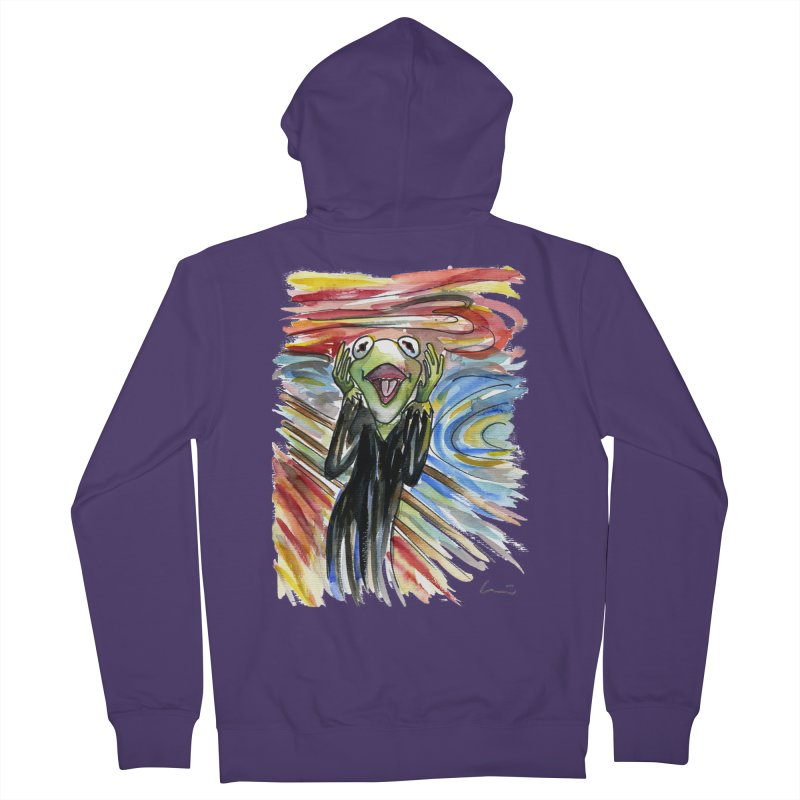 """The shout"" Women's Zip-Up Hoody by luisquintano's Artist Shop"