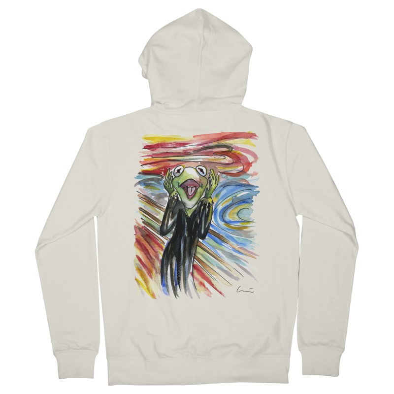 """The shout"" Men's Zip-Up Hoody by luisquintano's Artist Shop"