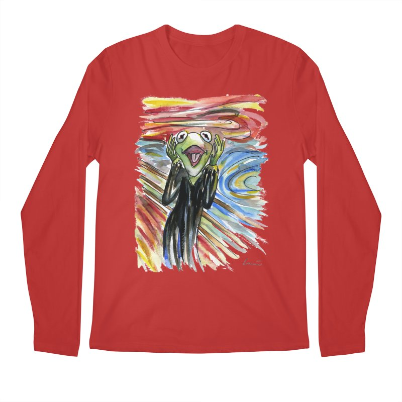 """The shout"" Men's Longsleeve T-Shirt by luisquintano's Artist Shop"