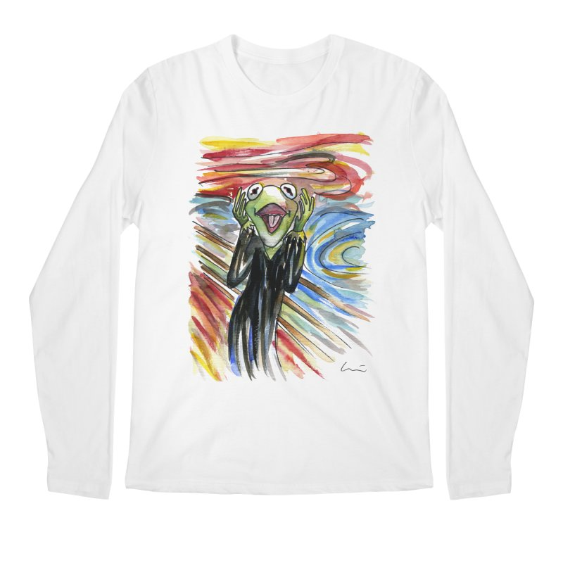 """The shout"" Men's Longsleeve T-Shirt by luisquintano's Artist Shop"
