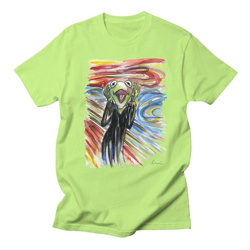 """""""The shout"""" Women's Unisex T-Shirt by luisquintano's Artist Shop"""