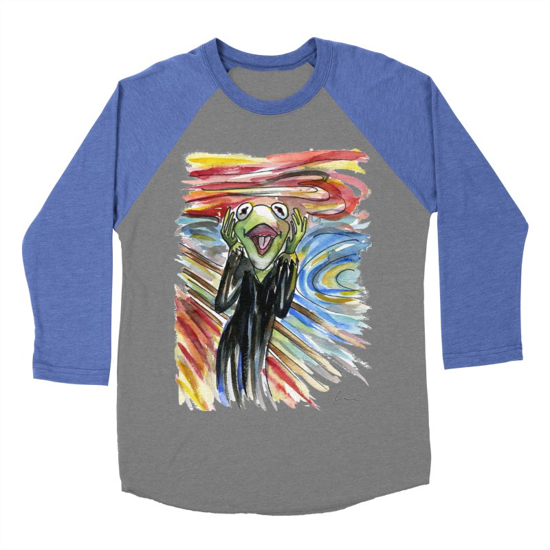 """The shout"" Women's Baseball Triblend T-Shirt by luisquintano's Artist Shop"