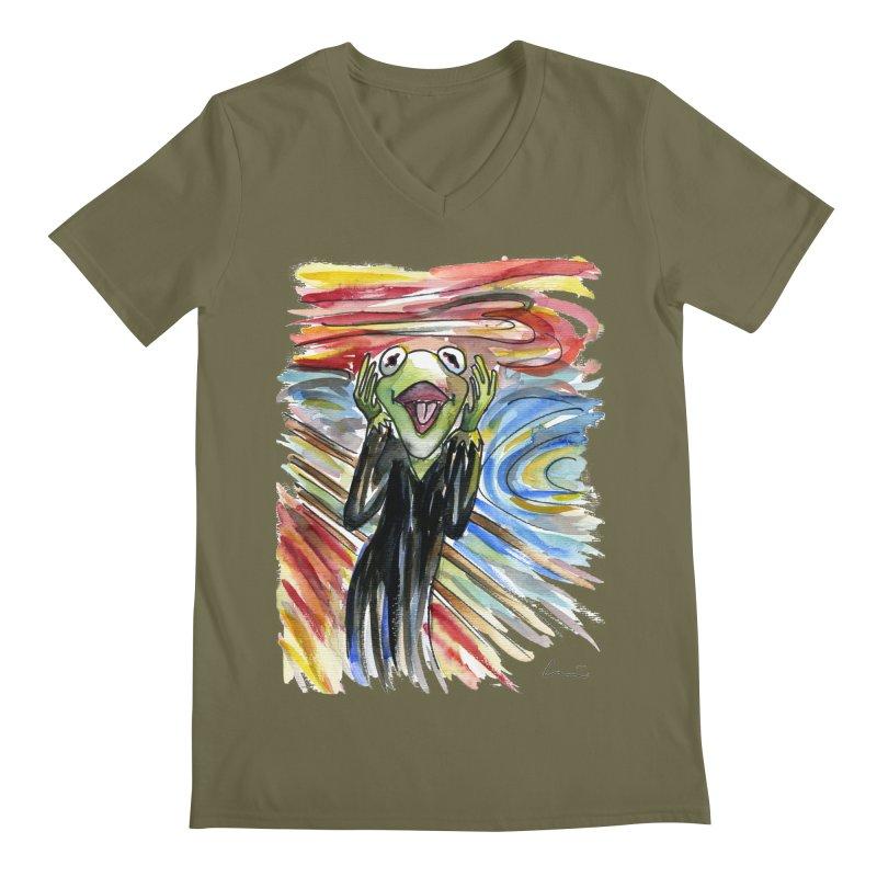 """""""The shout"""" Men's V-Neck by luisquintano's Artist Shop"""