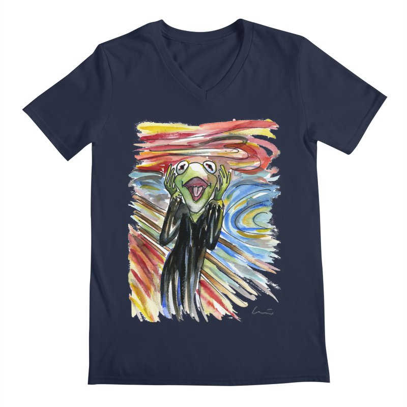 """The shout"" Men's V-Neck by luisquintano's Artist Shop"
