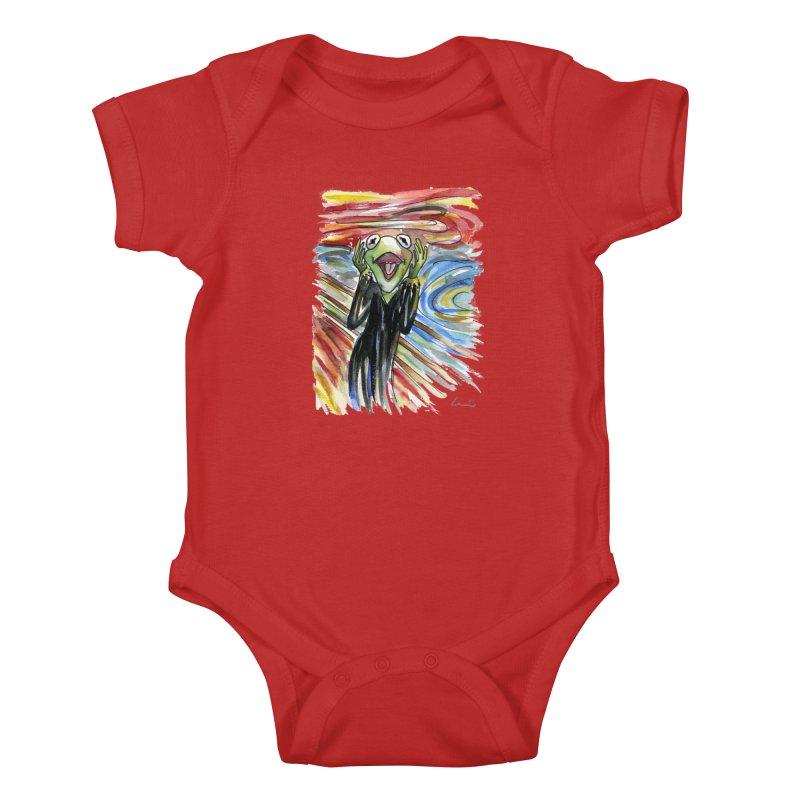 """The shout"" Kids Baby Bodysuit by luisquintano's Artist Shop"