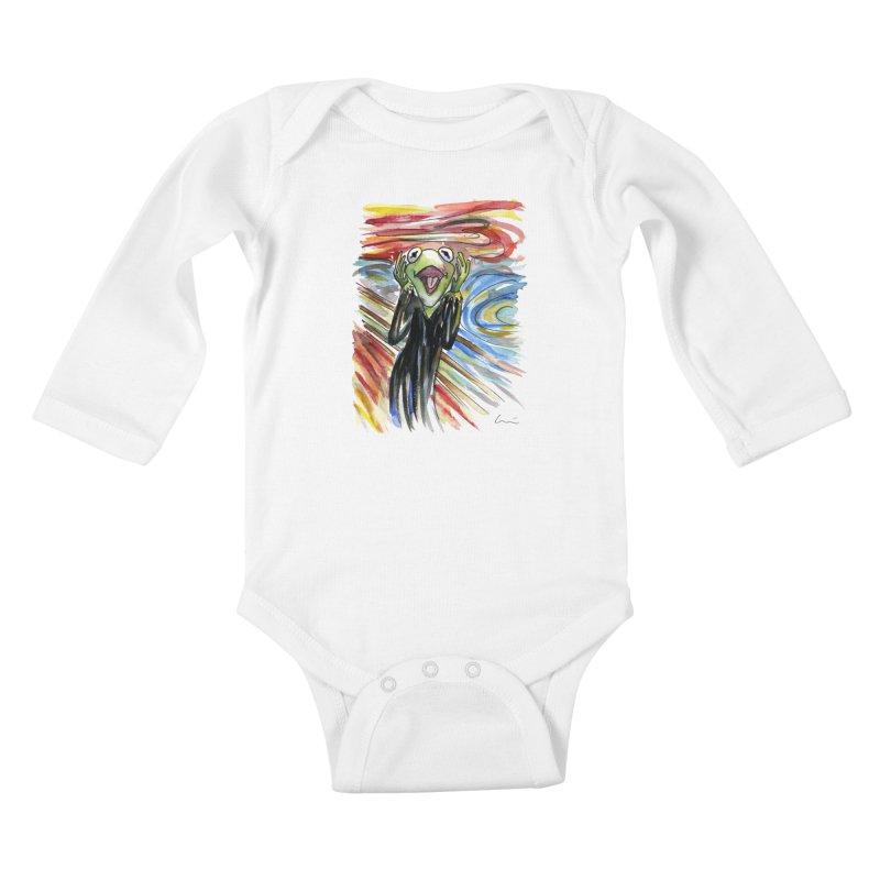 """The shout"" Kids Baby Longsleeve Bodysuit by luisquintano's Artist Shop"