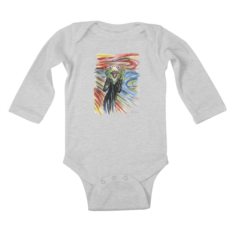 """The shout"" Kids Baby Longsleeve Bodysuit by luisquintano's Artist Shop"