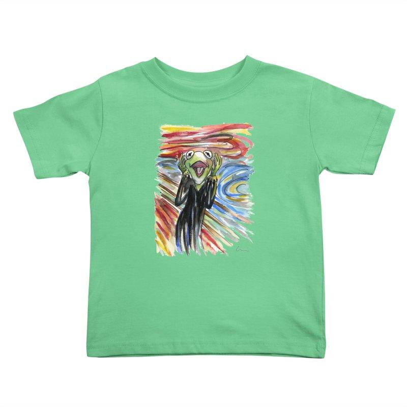 """The shout"" Kids Toddler T-Shirt by luisquintano's Artist Shop"