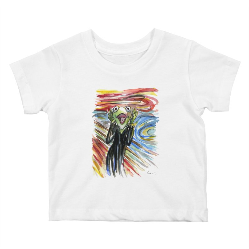 """The shout"" Kids Baby T-Shirt by luisquintano's Artist Shop"