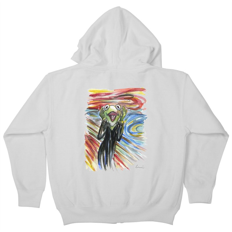 """The shout"" Kids Zip-Up Hoody by luisquintano's Artist Shop"