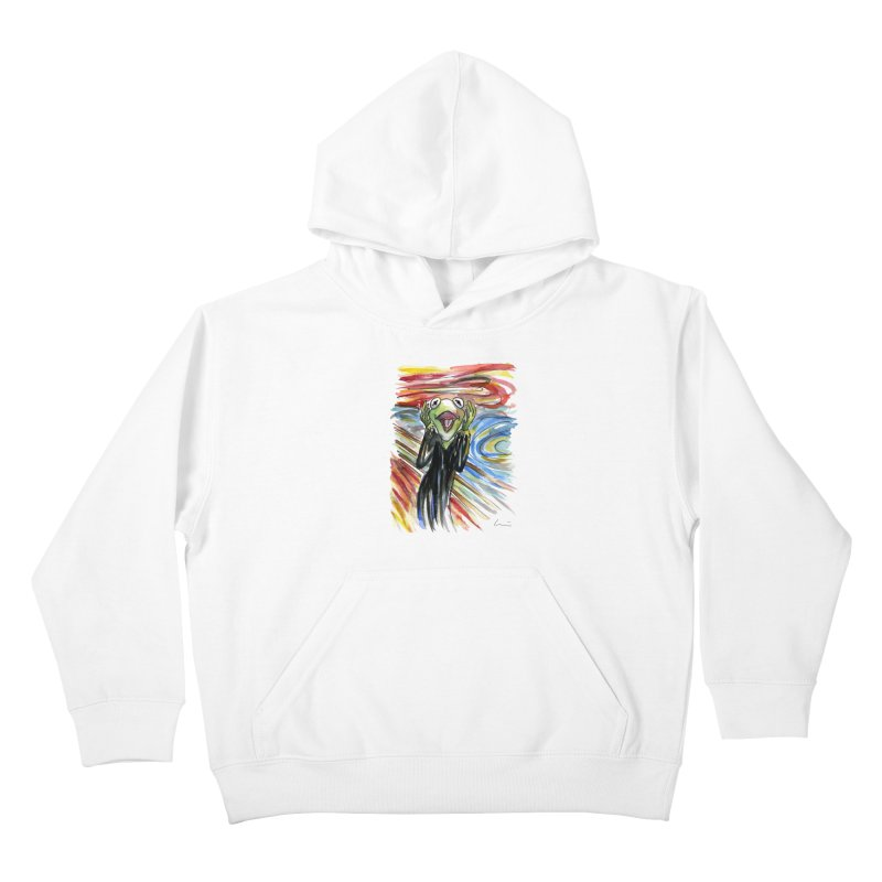 """""""The shout"""" Kids Pullover Hoody by luisquintano's Artist Shop"""