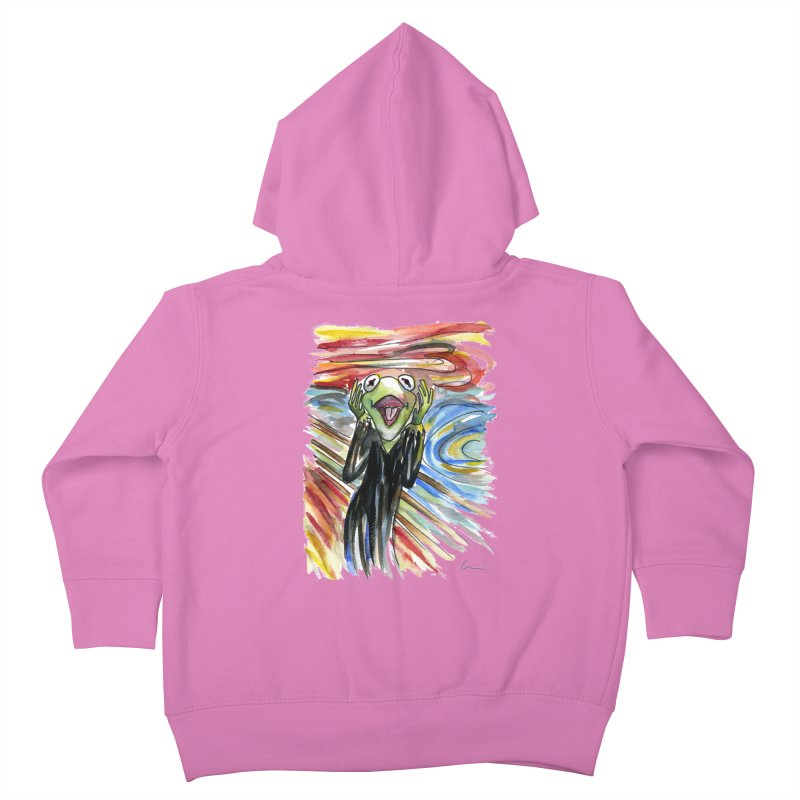 """The shout"" Kids Toddler Zip-Up Hoody by luisquintano's Artist Shop"