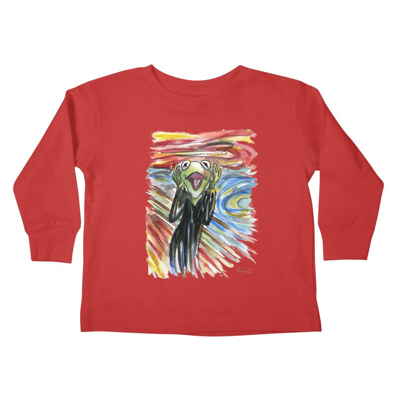 """The shout"" Kids Toddler Longsleeve T-Shirt by luisquintano's Artist Shop"