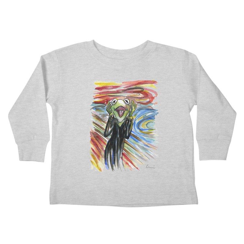 """The shout"" Kids Toddler Longsleeve T-Shirt by luisquintano's Artist Shop"