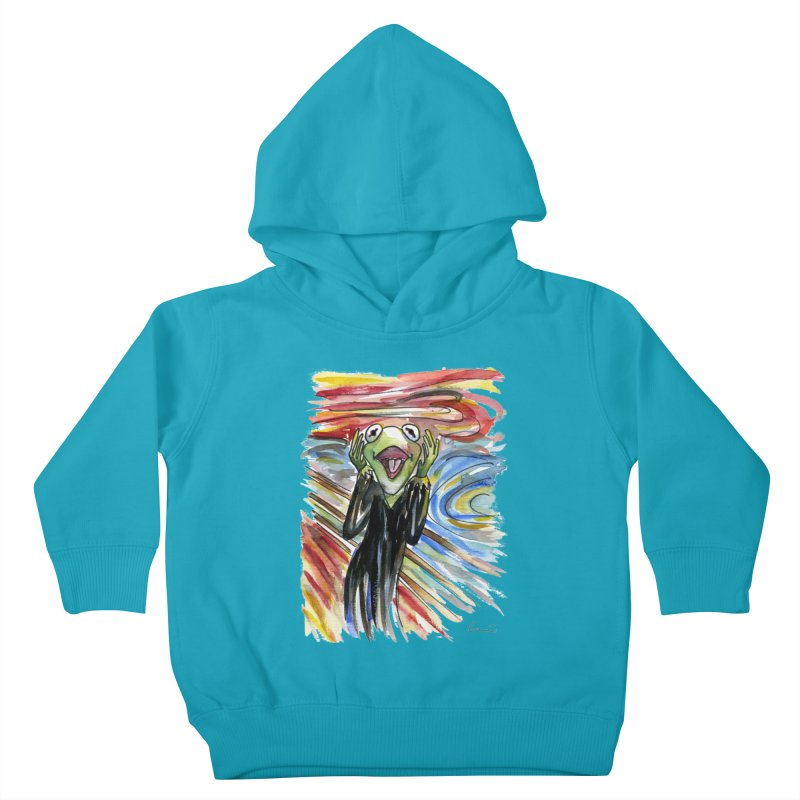 """""""The shout"""" Kids Toddler Pullover Hoody by luisquintano's Artist Shop"""