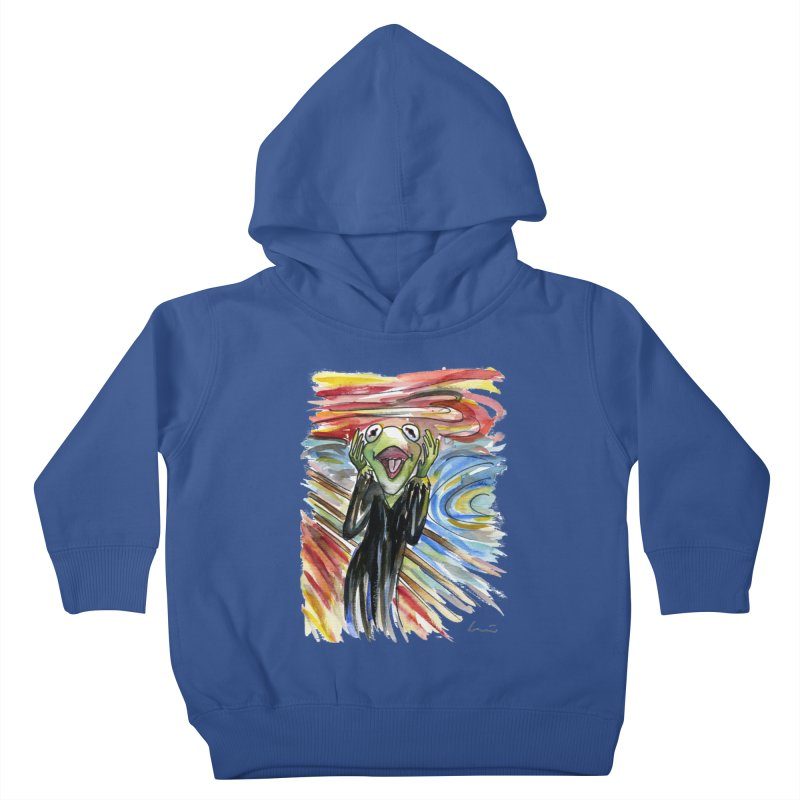 """The shout"" Kids Toddler Pullover Hoody by luisquintano's Artist Shop"