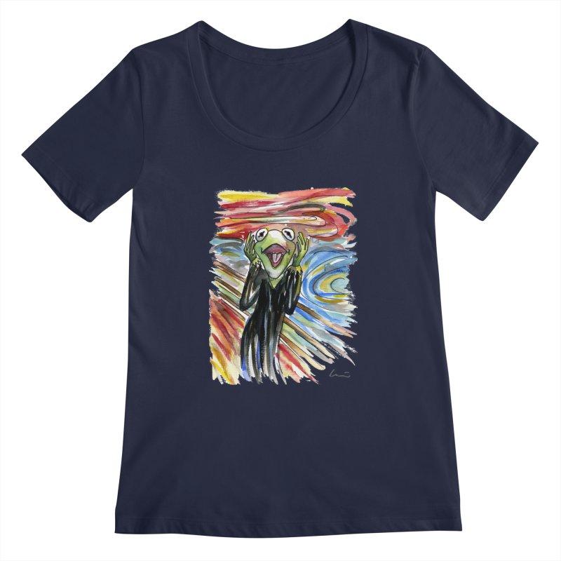 """""""The shout"""" Women's Scoopneck by luisquintano's Artist Shop"""
