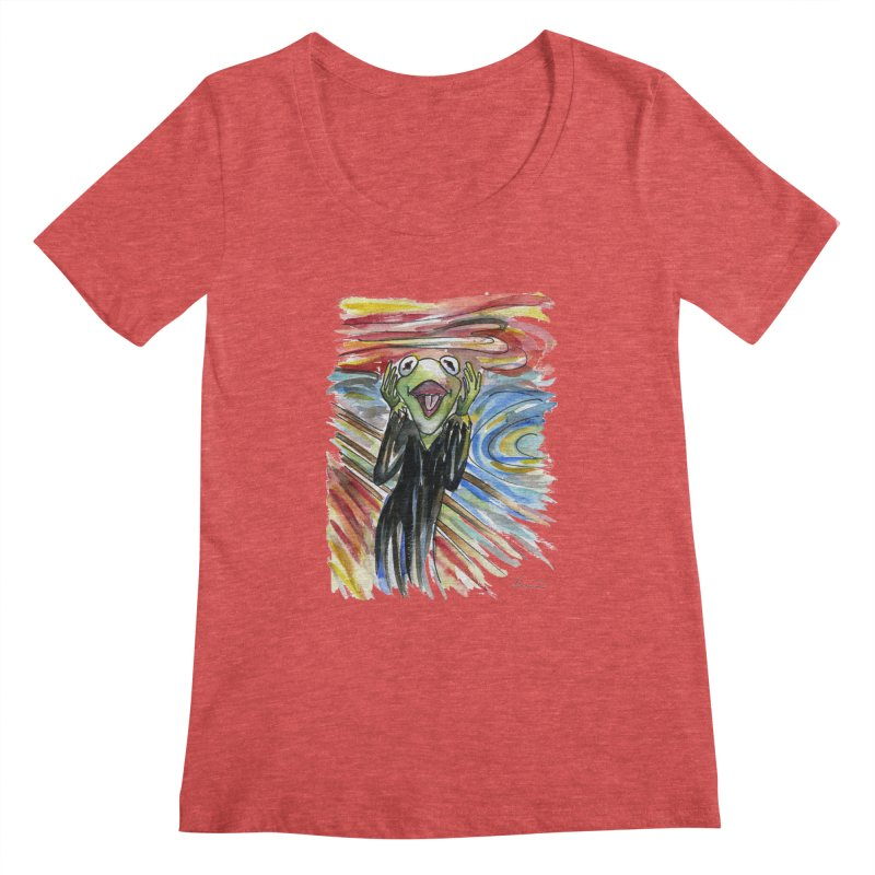 """The shout"" Women's Scoopneck by luisquintano's Artist Shop"