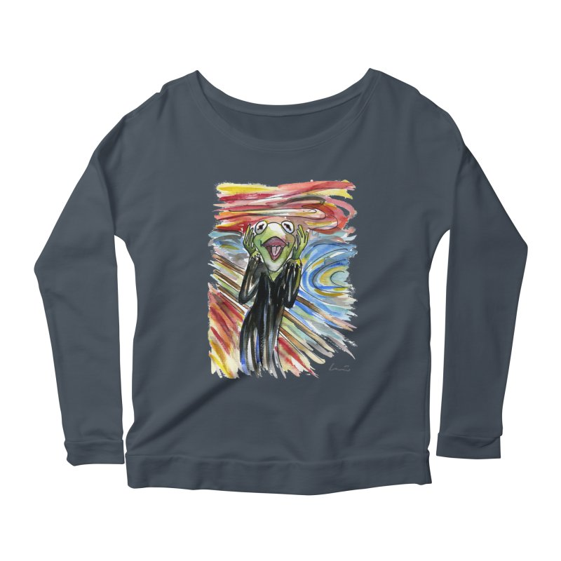 """The shout"" Women's Longsleeve Scoopneck  by luisquintano's Artist Shop"