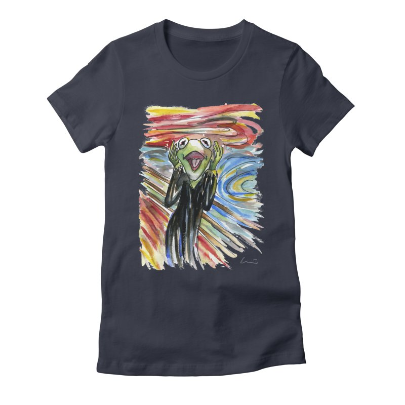 """""""The shout"""" Women's Fitted T-Shirt by luisquintano's Artist Shop"""