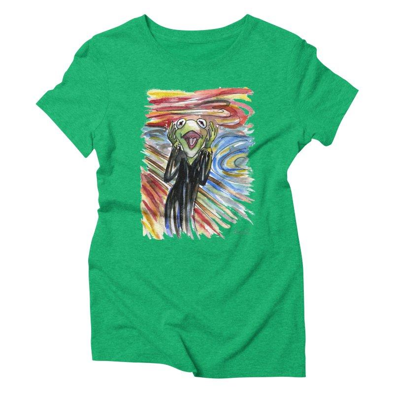 """The shout"" Women's Triblend T-shirt by luisquintano's Artist Shop"