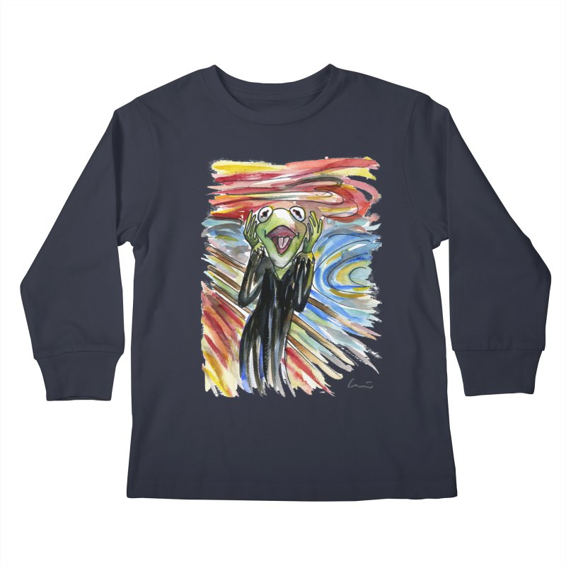 """The shout"" Kids Longsleeve T-Shirt by luisquintano's Artist Shop"