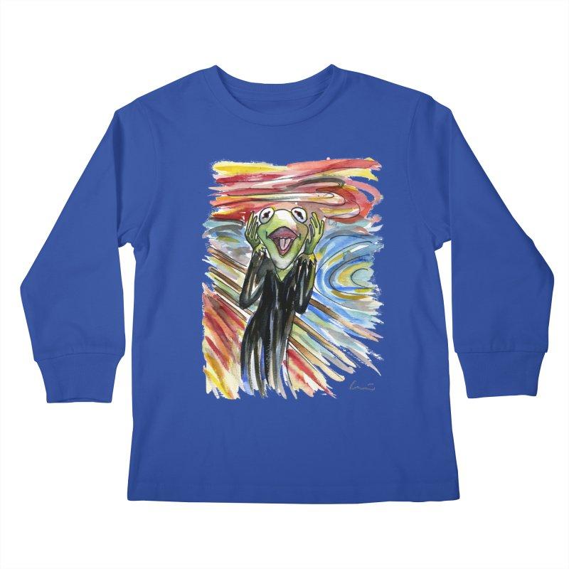 """The shout"" Kids Longsleeve T-Shirt by luisquintano's Artist Shop"