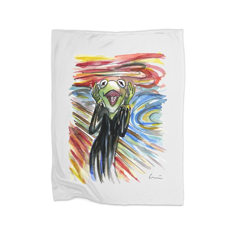 """The shout"" Home Blanket by luisquintano's Artist Shop"