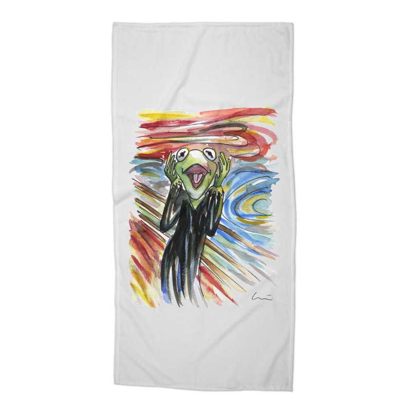 """The shout"" Accessories Beach Towel by luisquintano's Artist Shop"