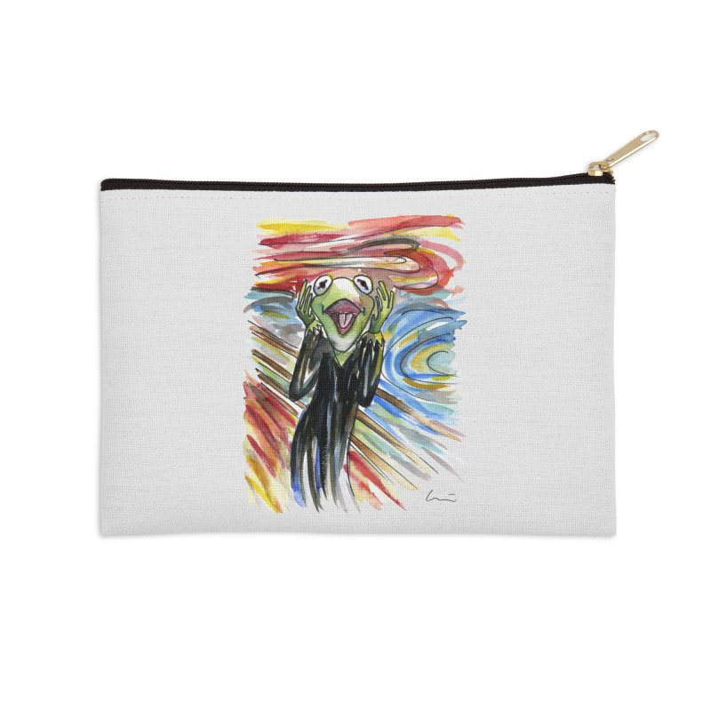 """The shout"" Accessories Zip Pouch by luisquintano's Artist Shop"