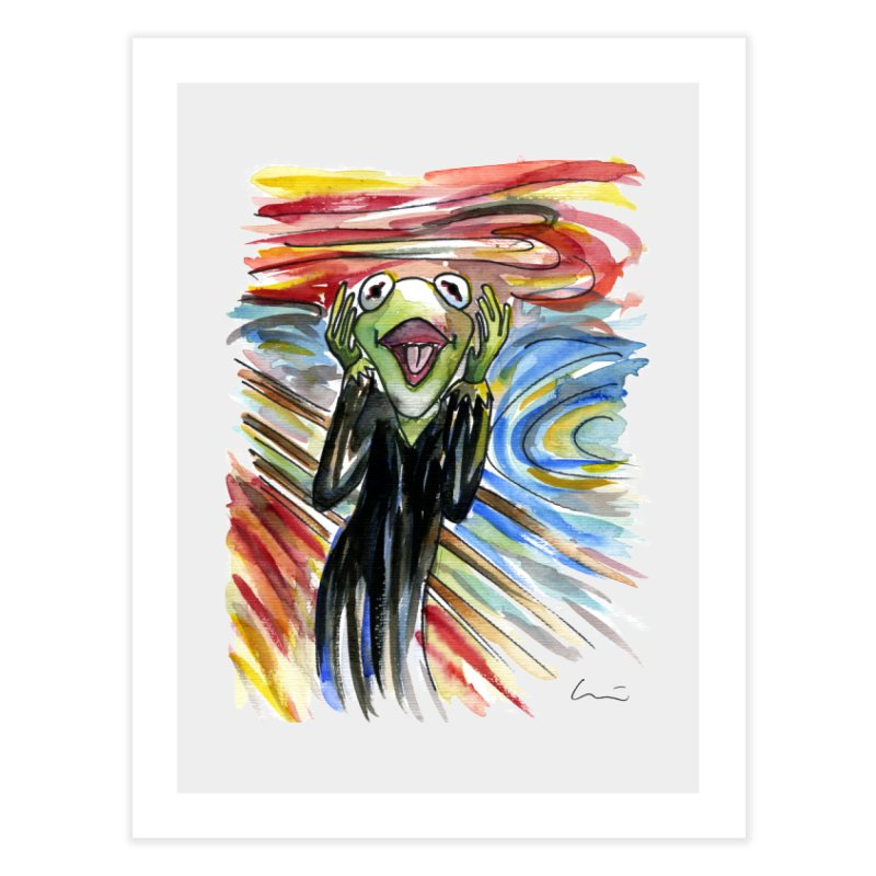 """The shout"" Home Fine Art Print by luisquintano's Artist Shop"