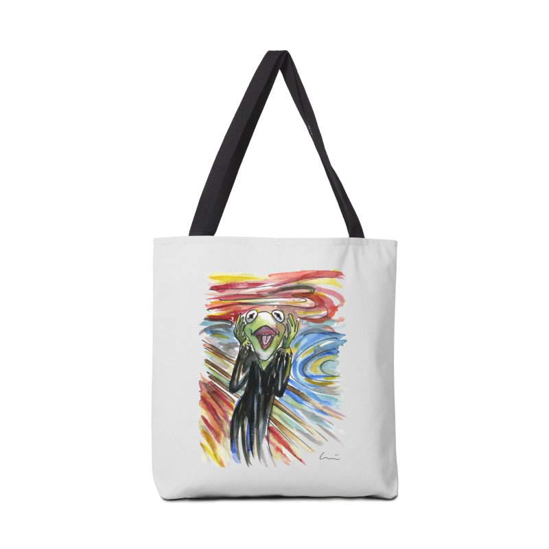 """The shout"" Accessories Bag by luisquintano's Artist Shop"