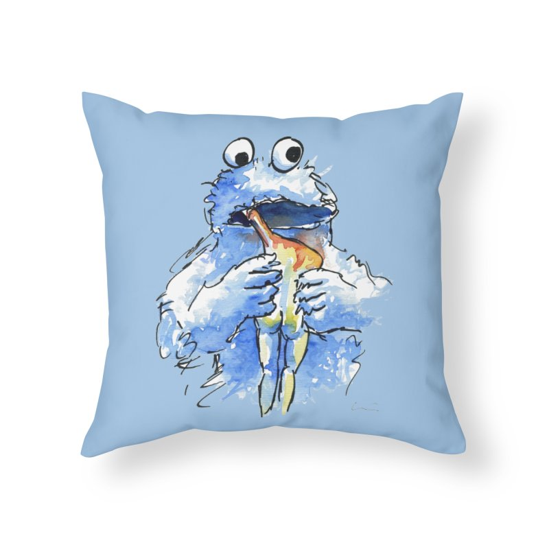"""Triky eating his offspring"" Home Throw Pillow by luisquintano's Artist Shop"