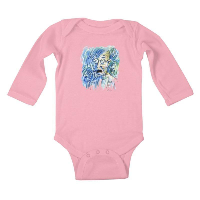 Vincent Van Hubert Kids Baby Longsleeve Bodysuit by luisquintano's Artist Shop