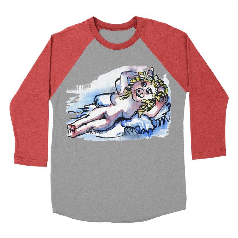 Nude Peggy Men's Baseball Triblend T-Shirt by luisquintano's Artist Shop