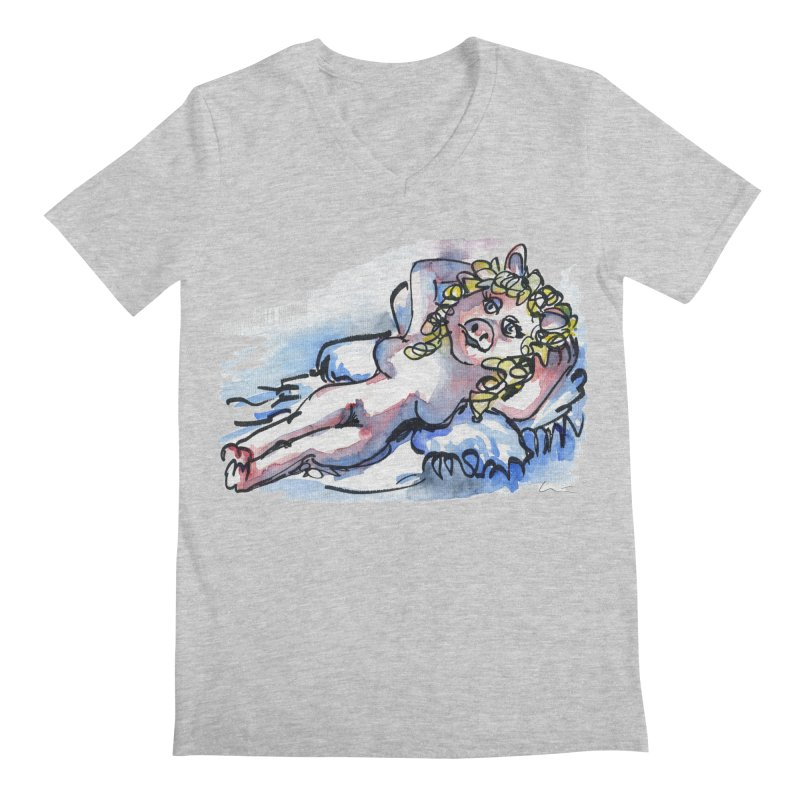 Nude Peggy Men's V-Neck by luisquintano's Artist Shop