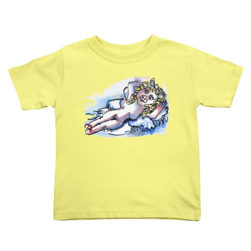 Nude Peggy Kids Toddler T-Shirt by luisquintano's Artist Shop
