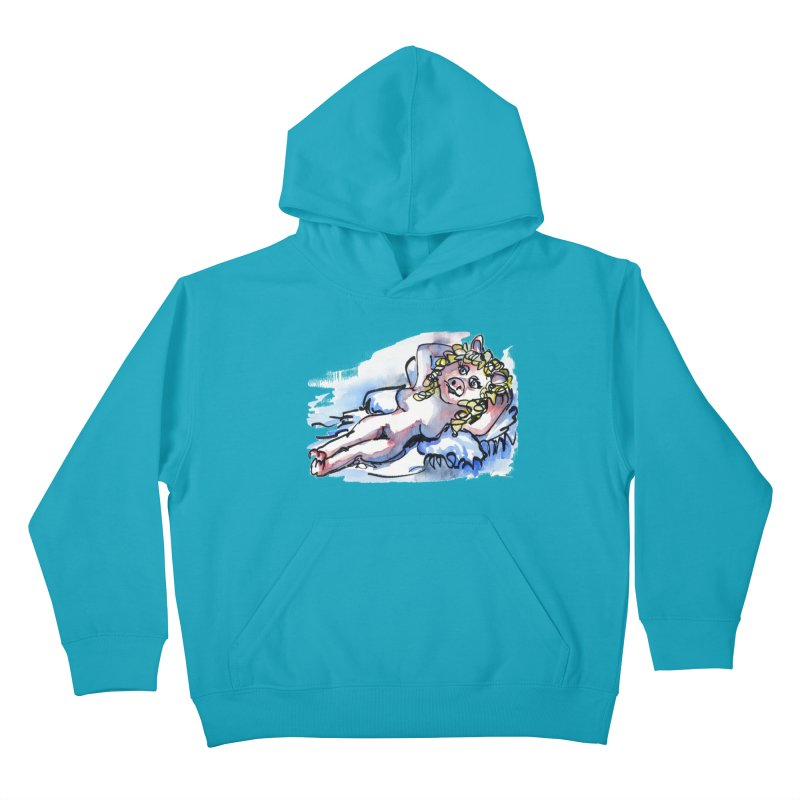 Nude Peggy Kids Pullover Hoody by luisquintano's Artist Shop