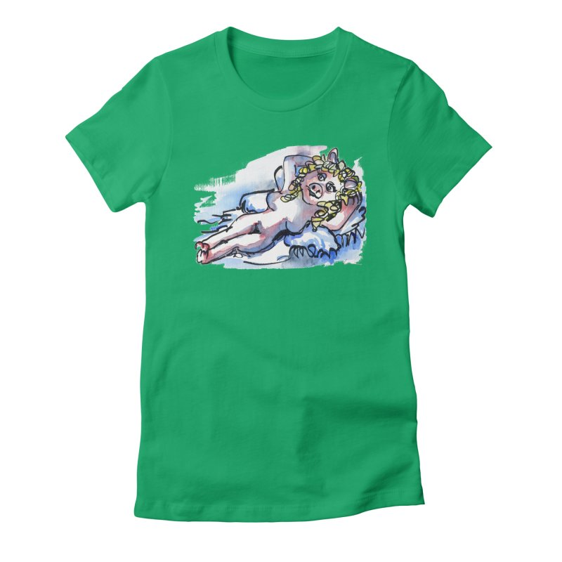 Nude Peggy Women's Fitted T-Shirt by luisquintano's Artist Shop