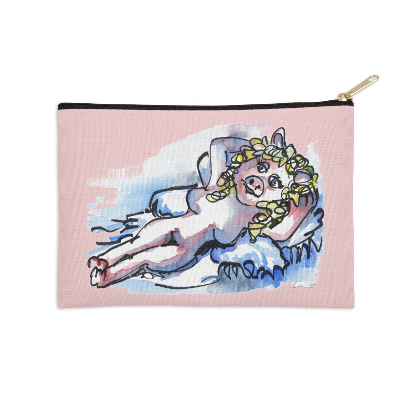 Nude Peggy Accessories Zip Pouch by luisquintano's Artist Shop