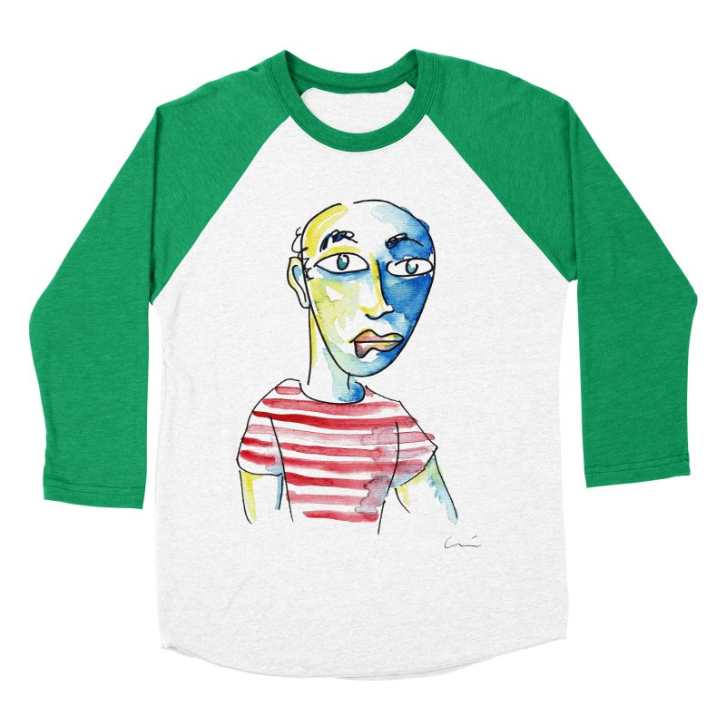 Picasso Men's Baseball Triblend T-Shirt by luisquintano's Artist Shop