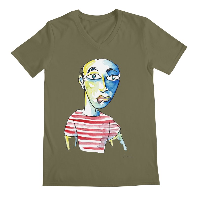 Picasso Men's V-Neck by luisquintano's Artist Shop