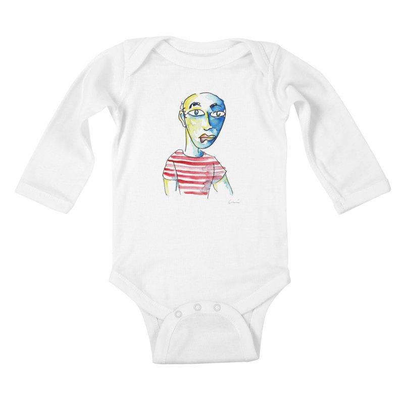 Picasso Kids Baby Longsleeve Bodysuit by luisquintano's Artist Shop
