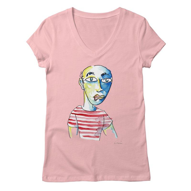 Picasso Women's V-Neck by luisquintano's Artist Shop