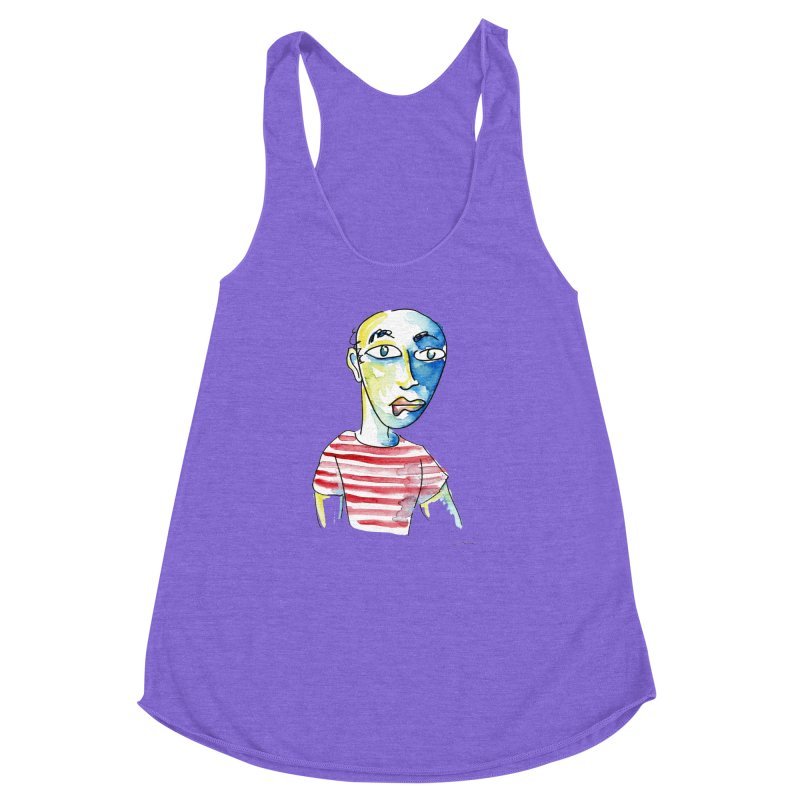 Picasso Women's Racerback Triblend Tank by luisquintano's Artist Shop
