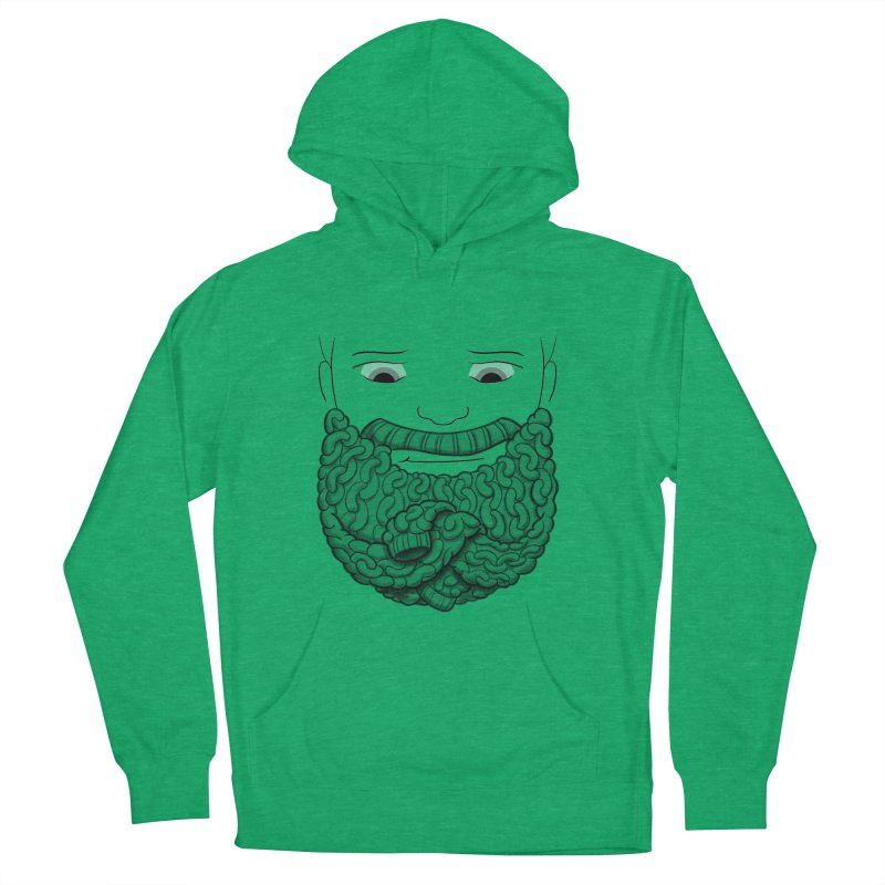 Face Sweater Men's French Terry Pullover Hoody by Luke Wisner