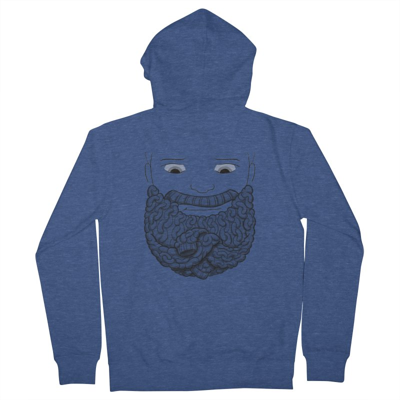 Face Sweater Men's Zip-Up Hoody by Luke Wisner