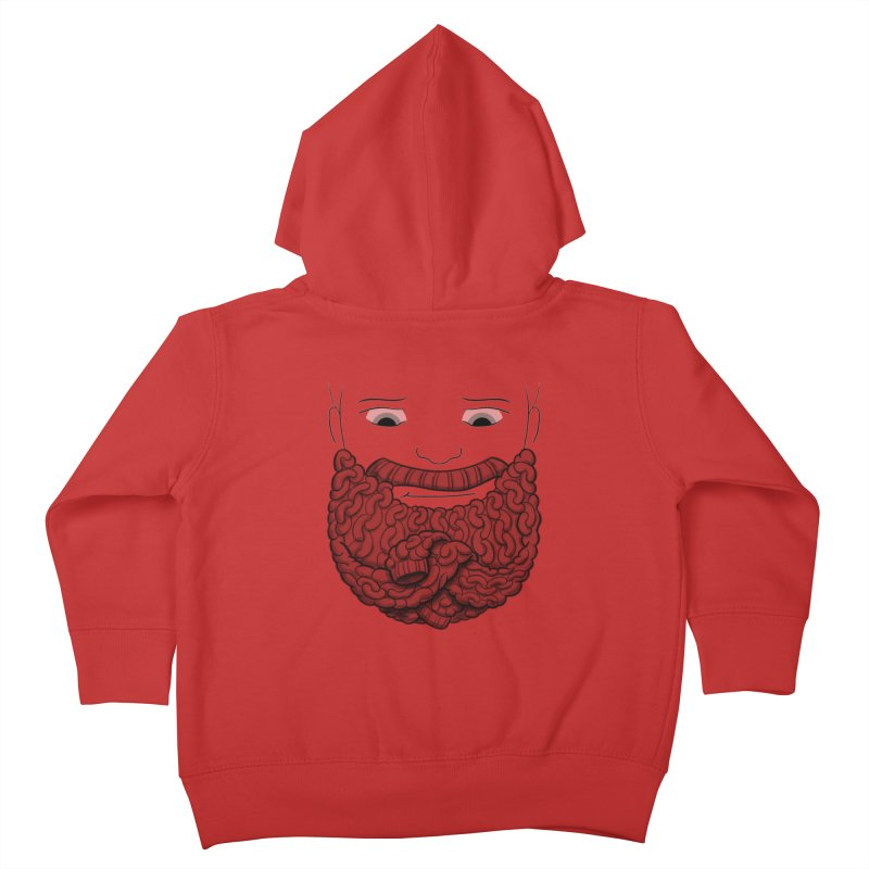 Face Sweater Kids Toddler Zip-Up Hoody by Luke Wisner