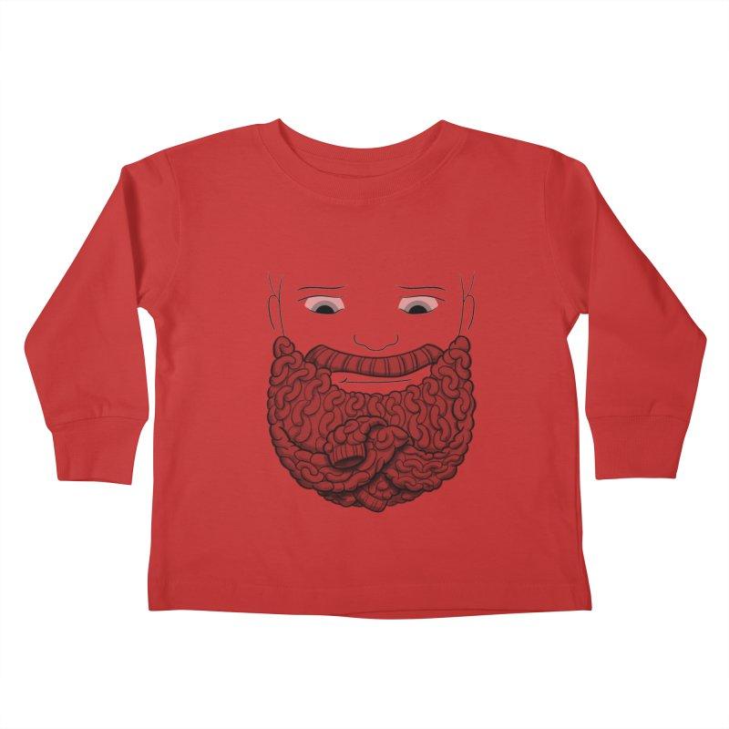 Face Sweater Kids Toddler Longsleeve T-Shirt by Luke Wisner